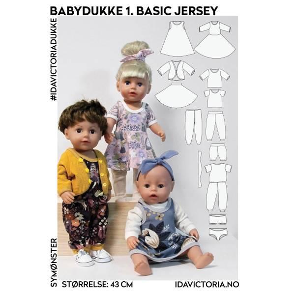 Bilde av Sy til babydukke – 1. Basic jersey (43 cm)